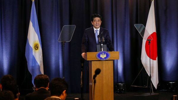 Japanese Prime Minister Shinzo Abe attends a press conference in Buenos Aires, Argentina, November 21, 2016 - Sputnik International