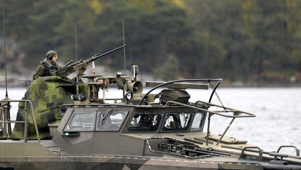 A Swedish Navy fast-attack craft patrols in the the Stockholm Archipelago, Sweden (file) - Sputnik International