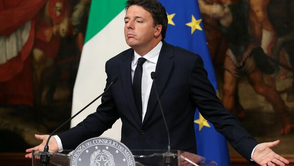 Italian Prime Minister Matteo Renzi leads a news conference to mark his 1000 days in government in Rome, Italy, November 18, 2016 - Sputnik International