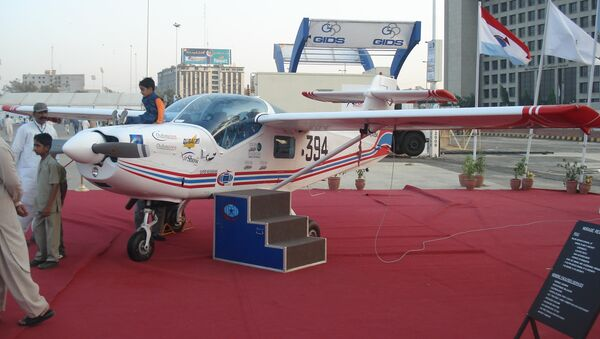 The Super Mushshak on display at the IDEAS 2008 defence exhibition in Pakistan - Sputnik International