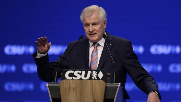 Bavarian State Governor and Chairman of German Christian Social Union party, CSU, Horst Seehofer, gestures during his speech at a party convention of the German Christian Social Union, CSU, in Munich, Germany, Friday, Nov. 4, 2016 - Sputnik International