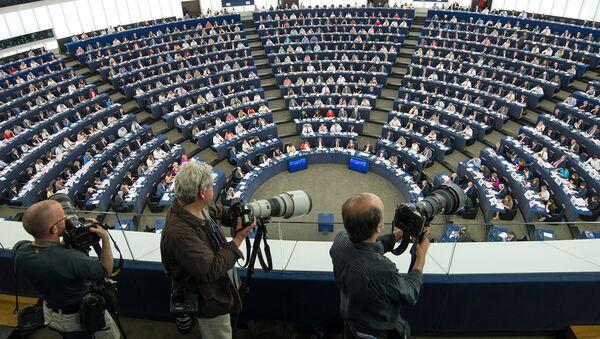 Journalists in the Plenary chamber of the European Parliament (File) - Sputnik International