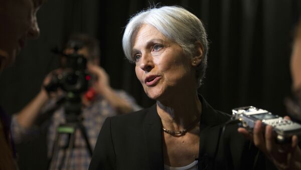 Green party presidential candidate Jill Stein answers questions from members of the media during a campaign stop at Humanist Hall in Oakland, Calif. on Thursday, Oct. 6, 2016 - Sputnik International