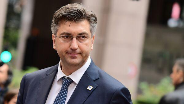 Croatia's Prime Minister Andrej Plenkovic - Sputnik International