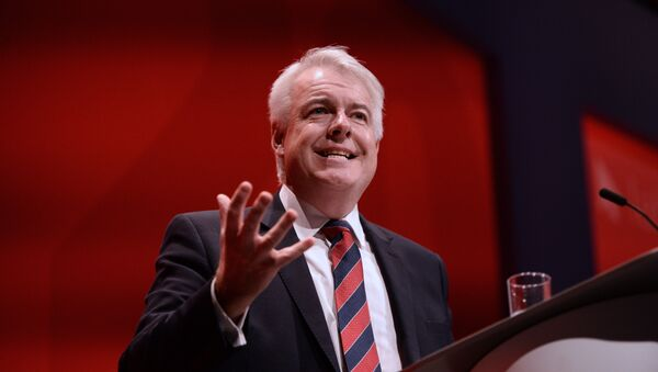 British Labour party politician and First Minister of Wales, Carwyn Jones attends the first day of the annual Labour Party conference in Liverpool, north west England on September 25, 2016 - Sputnik International