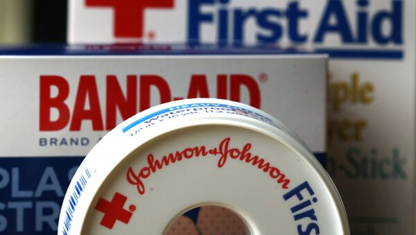 In this July 16, 2012, file photo, Johnson & Johnson products are displayed in Orlando, Fla. On Friday, Nov. 25, 2016, Johnson & Johnson said it is in early talks to buy Swiss drugmaker Actelion Pharmaceuticals Ltd. Both companies said there is no certainty that a deal will happen. - Sputnik International