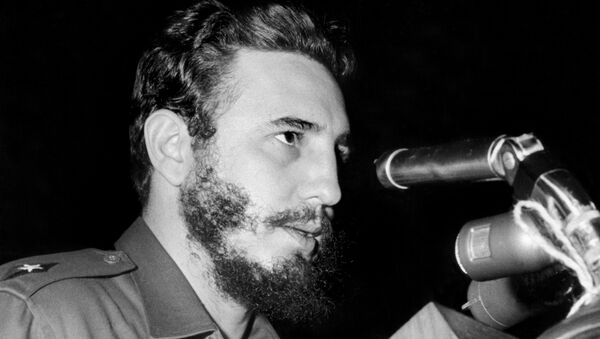 Cuban Prime Secretary of the Cuban Communist party and President of the State Council Fidel Castro addresses delegates of the General Assembly of the United Nations, 26 September 1960 in New York - Sputnik International