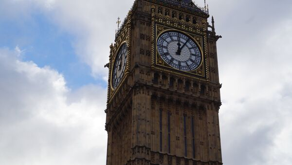 The famous Elizabeth Tower in the UK Houses of Parliament, which contains the Great Bell, known as Big Ben. - Sputnik International