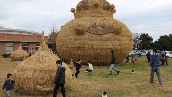 Huge straw art: Slime appeared! - Sputnik International