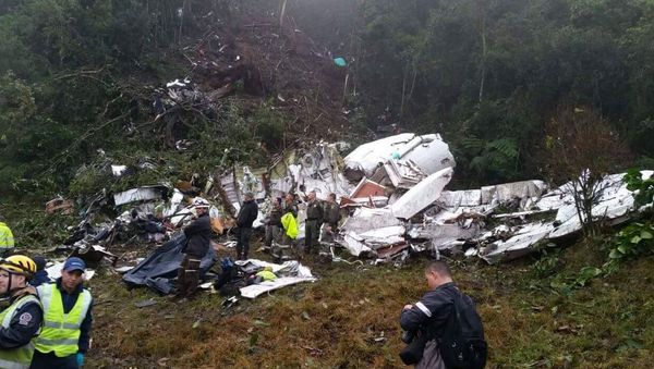 Plane With Brazilian Football Players Crashes in Colombia - Sputnik International