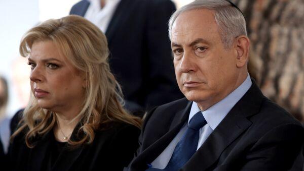 Israeli Prime Minister Benjamin Netanyahu with his wife, Sara - Sputnik International