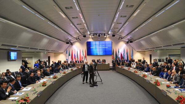 A meeting of the Organization of the Petroleum Exporting Countries (OPEC) in Vienna. File photo - Sputnik International