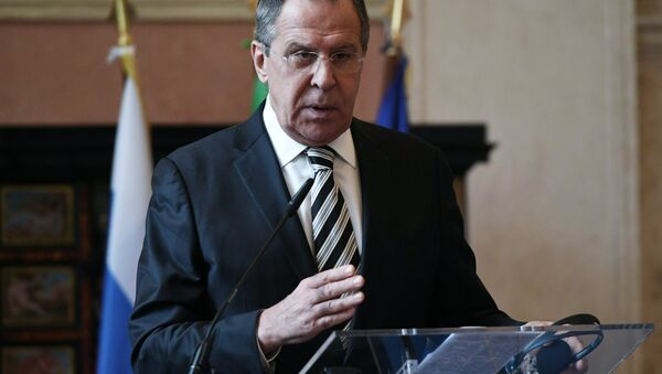 Russian Foreign Minister Sergei Lavrov during a news conference in Rome following talks with his Italian counterpart Paolo Gentiloni - Sputnik International