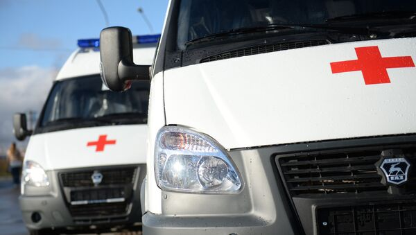 Ambulance vehicles. File photo - Sputnik International