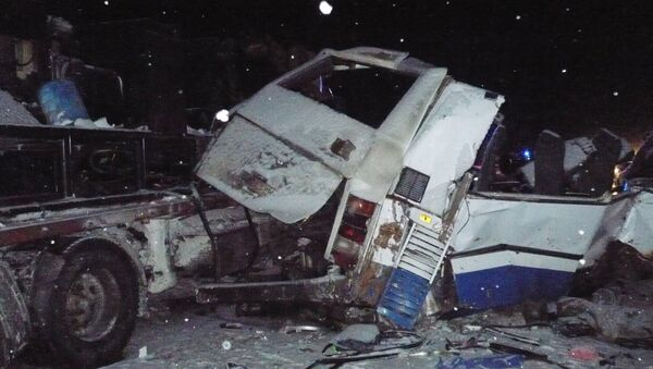 Car accident on a road between the cities of Tyumen and Khanty-Mansiysk - Sputnik International