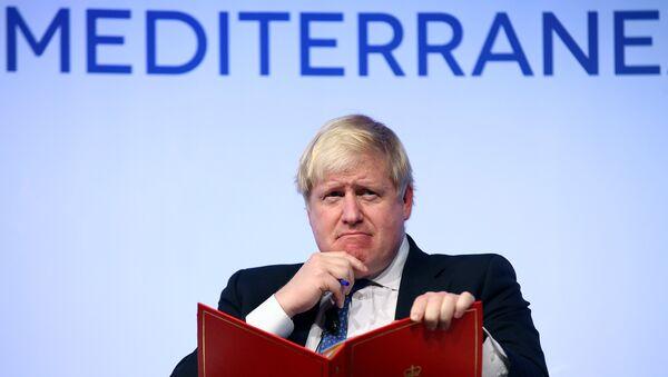 Britain's Foreign Secretary Boris Johnson gestures as he speaks during the MED Mediterranean Dialogues forum in Rome, Italy December 1, 2016. - Sputnik International