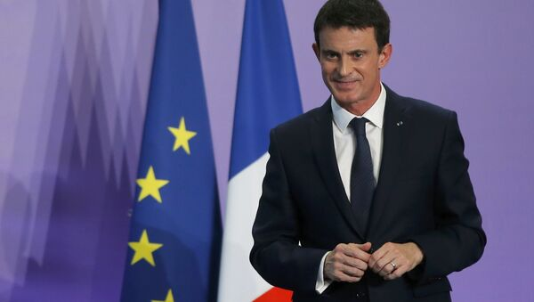 French Prime Minister Manuel Valls attends a news conference during an Interministerial Committee on Disability, in Nancy, France, December 2, 2016. - Sputnik International