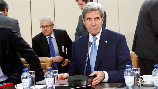 US Secretary of State John Kerry attends a meeting of NATO foreign ministers at the Alliance headquarters in Brussels, Belgium, December 6, 2016. - Sputnik International