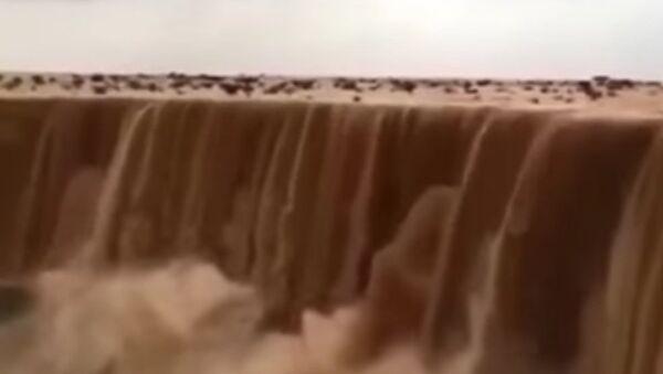 Sand water fall in Saudi arabia - Sputnik International