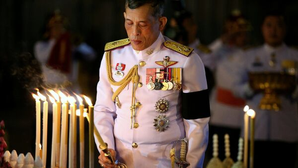 Thailand's Crown Prince Maha Vajiralongkorn attends an event commemorating the death of King Chulalongkorn, known as King Rama V, as he joins people during the mourning of his father, the late King Bhumibol Adulyadej, at the Royal Plaza in Bangkok, Thailand. (File) - Sputnik International