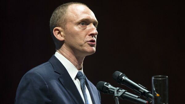 Carter Page, an adviser to US President-elect Donald Trump, speaks at the graduation ceremony for the New Economic School in Moscow, Russia. - Sputnik International