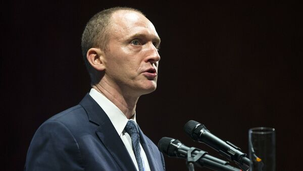 Carter Page, an adviser to U.S. Republican presidential candidate Donald Trump, speaks at the graduation ceremony for the New Economic School in Moscow, Russia. (File) - Sputnik International