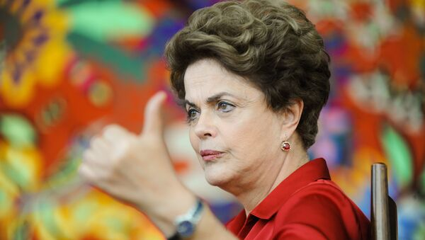 Brazilian suspended President Dilma Rousseff meets with foreign correspondents at the Alvorada Palace presidential residence in Brasilia on August 18, 2016 - Sputnik International