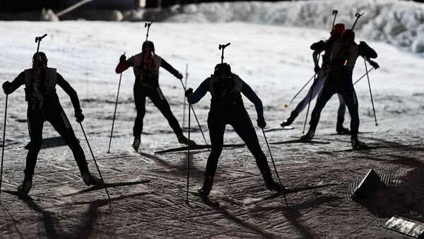 Athletes during the mixed relay race at the 2016–17 Biathlon World Cup – World Cup 1 in Ostersund, Sweden - Sputnik International
