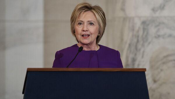 Former Secretary of State Hillary Clinton speaks during a ceremony to unveil a portrait of Senate Minority Leader Harry Reid, D-Nev., on Capitol Hill, Thursday, Dec. 8, 2016, in Washington - Sputnik International