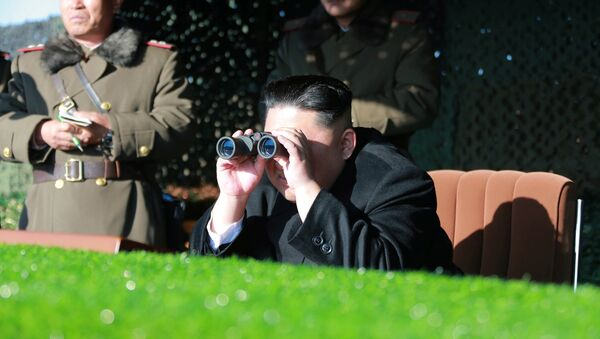 North Korean leader Kim Jong Un guides the combat drill of the service personnel of the special operation battalion of KPA Unit 525 in this undated photo released by North Korea's Korean Central News Agency (KCNA) in Pyongyang on December 11, 2016 - Sputnik International