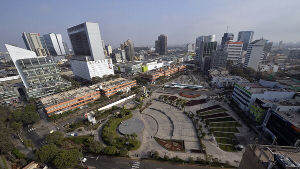 View of the commercial district of San Isidro, in Lima, Peru - Sputnik International