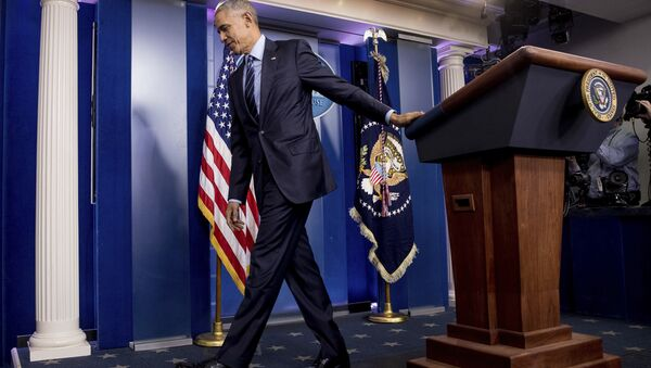 President Barack Obama in the White House Press Briefing Room - Sputnik International