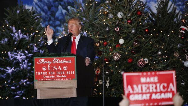 U.S. President-elect Donald Trump speaks during a USA Thank You Tour event in Orlando, Florida, U.S., December 16, 2016. - Sputnik International