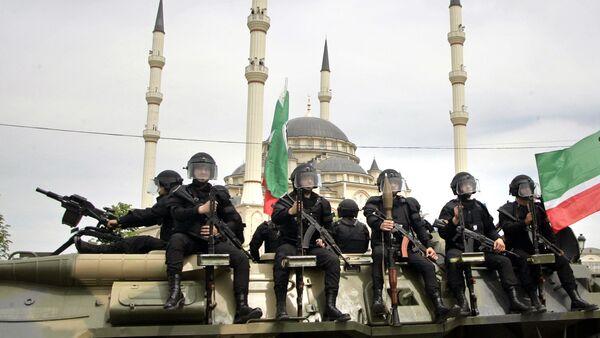 Chechen security forces (File) - Sputnik International