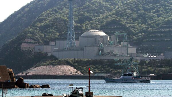 This file picture taken on May 6, 2010 shows a police boat on patrol near the Monju fast-breeder nuclear reactor plant in Tsuruga, Fukui prefecture - Sputnik International
