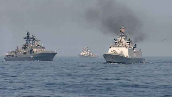 Russian-Indian naval exercise Indra-2014 - Sputnik International