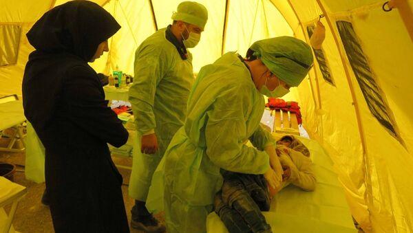 EMERCOM personnel working in Aleppo, Syria - Sputnik International