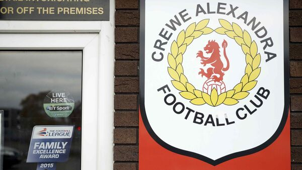 Signs are seen at the Crewe Alexandra Football Club ground in Crewe, Britain November 27, 2016 - Sputnik International