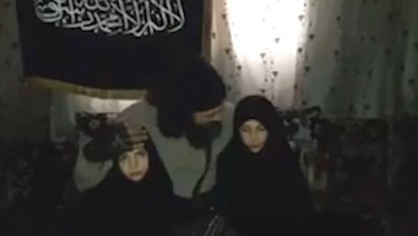 Syrian Jihadist with Daughters - Sputnik International