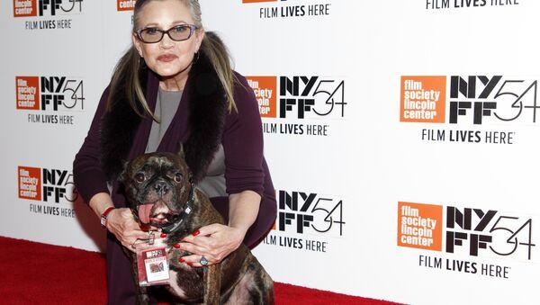 Carrie Fisher with her Service Dog Gary - Sputnik International