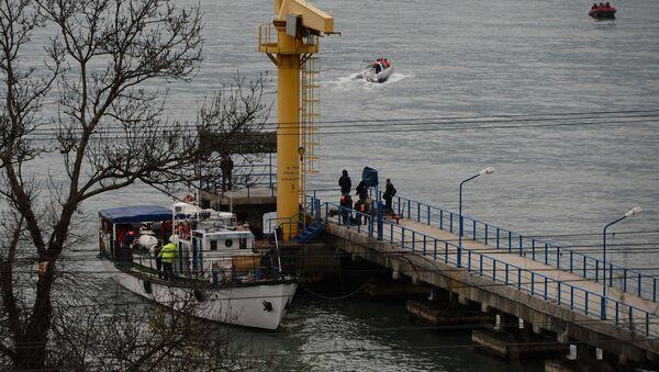 Russian Defense Ministry's TU-154 aircraft crash site in Sochi - Sputnik International