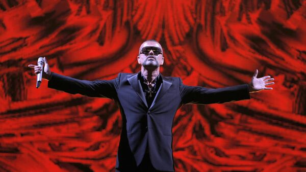 FILE - In this Sept. 9, 2012 file photo, British singer George Michael performs at a concert to raise money for AIDS charity Sidaction, during the Symphonica tour at Palais Garnier Opera house in Paris, France. - Sputnik International