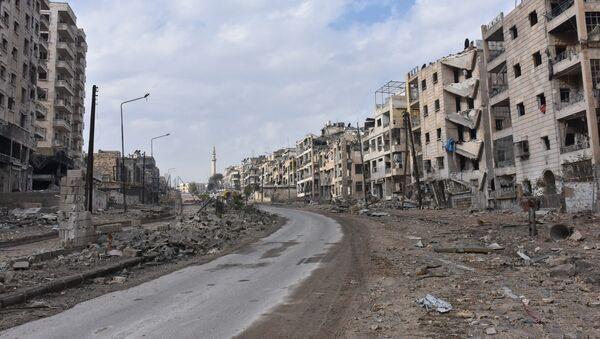 Destroyed quarters of liberated Aleppo. - Sputnik International