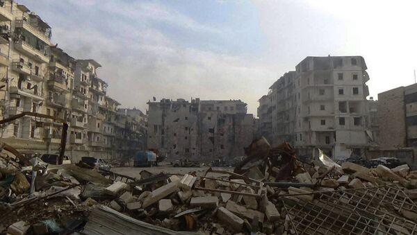 Destruction in Al Soukari, the last liberated district in Eastern Aleppo - Sputnik International