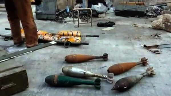 Syrian Army Finds Stockpile of Weapons in Aleppo - Sputnik International