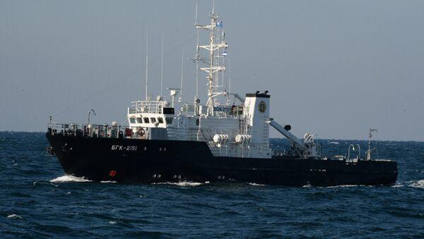 Large inshore survey boat during a submarine crew rescue drill. File photo - Sputnik International