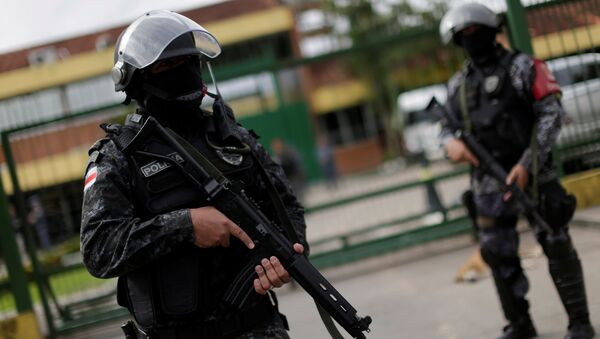 Soldiers of the military police are seen during a security operation outside of Puraquequara prison in Manaus after some prisoners were relocated following a deadly revolt, January 5, 2017 - Sputnik International