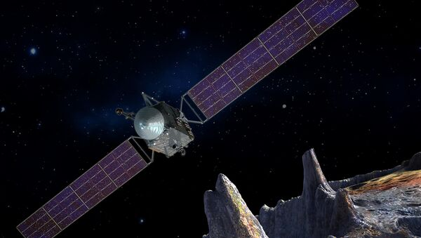 Artist's concept of the Psyche spacecraft, which will conduct a direct exploration of an asteroid thought to be a stripped planetary core. - Sputnik International