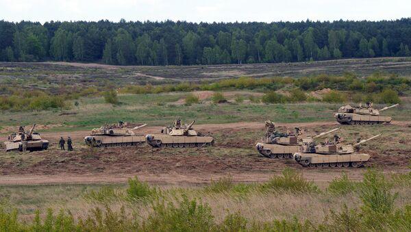 US troops with Abrams tanks. Poland (File) - Sputnik International