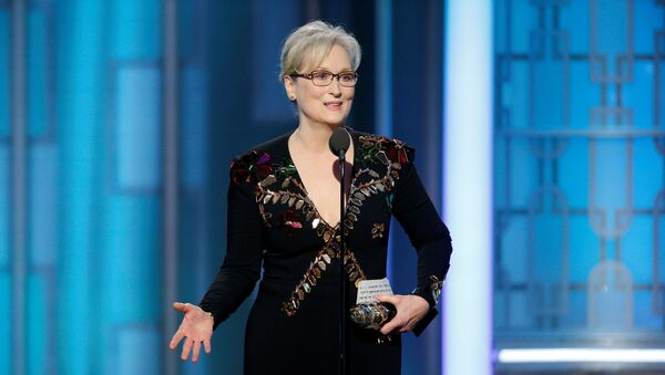 Actress Meryl Streep accepts the Cecil B. DeMille Award during the 74th Annual Golden Globe Awards show in Beverly Hills, California, U.S., January 8, 2017. - Sputnik International